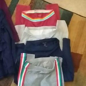 Girls 4 shirts andd 4 leggings best offer